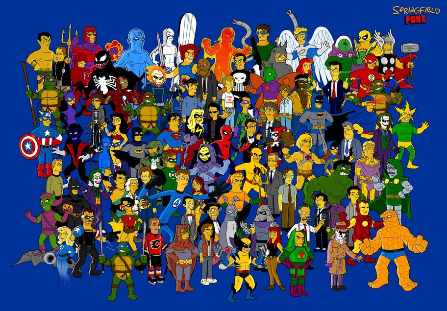 superheroes-simpsonizados